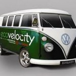 Electric cars charge into London for EcoVelocity
