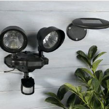 Smart Solar Twin Security Light