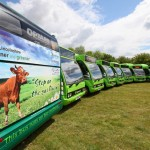 The new Stagecoach Optare Solo Buses specially converted to run on low carbon biomethane converted from waste