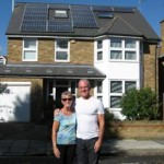 Happy customers of Good Energy with their solar pv microgeneration
