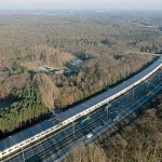 16,000 Solar Photovoltaic panels power the train for 8 miles near Antwerp