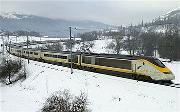 Eurostar winter ski train