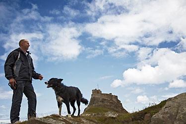 National Trust Walks Lindisfarne Castle Northumberland