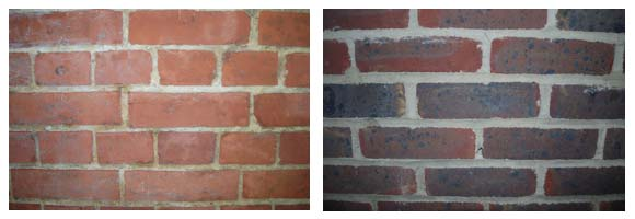 Brickwork showing solid wall or cavity wall