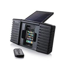 Eton Soulra Solar Powered Travel Sound System ipod and iphone