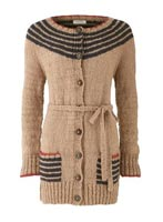 Orla Kiely Belted Cardigan from People Tree
