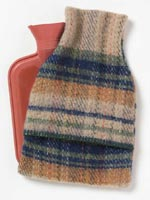 Recycled Wool Hot Water Bottle Cover & Bottle from Ethical Superstore