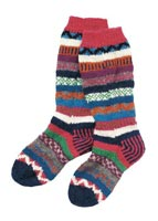 Recycled Yarn Long Stripey Socks from People Tree