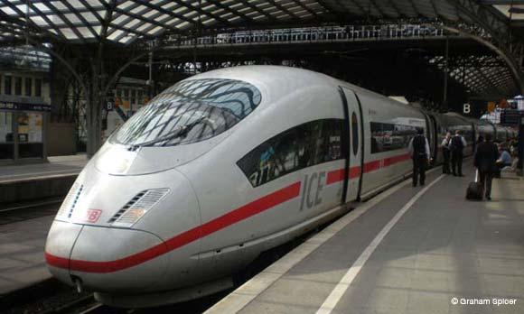 ICE Train Cologne Hbf Railway Station
