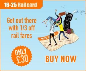 16-25 Student Railcard Deals