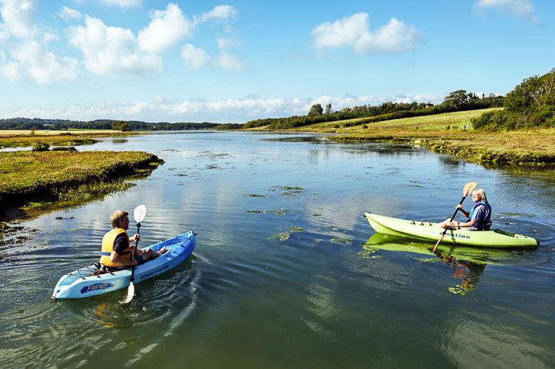 Sea Kayaking at Newtown Creek Isle of Wight - National Trust