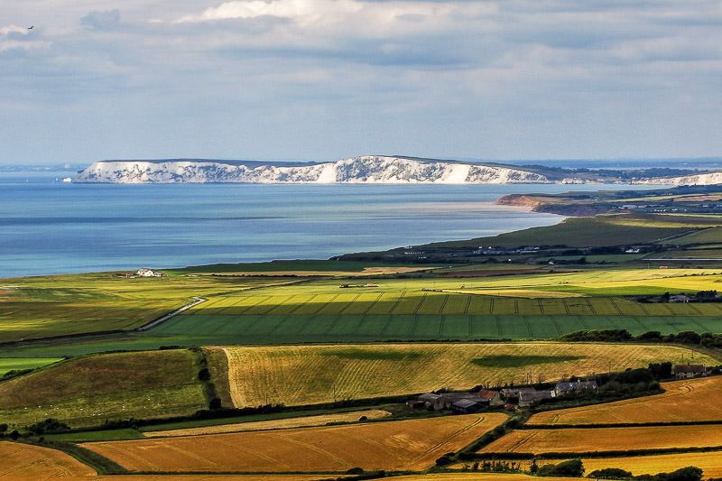 View west from St Catherine's Down Isle of Wight - National Trust