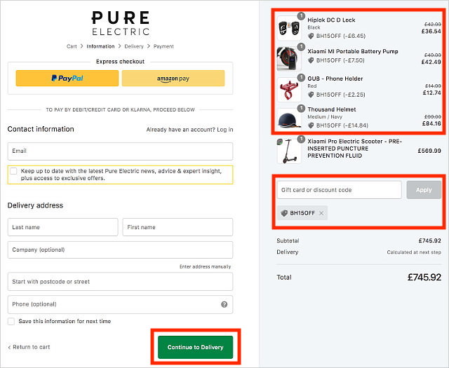 Pure Electric Apply Discount Code