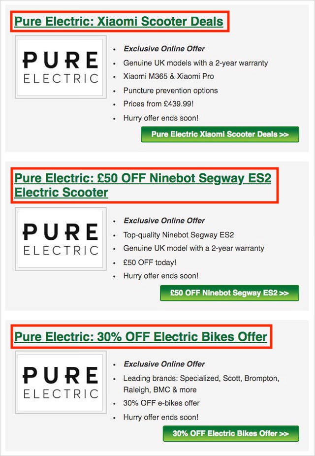 Pure Electric Discount Codes and Deals Page