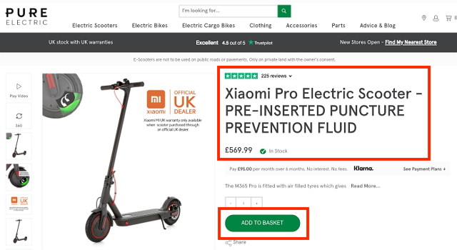 Pure Electric Scooter Deal