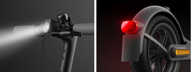 Xiaomi Mi Electric Scooter 1S - Safety Front Rear Lights