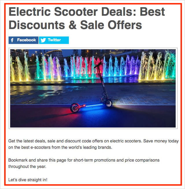 Best Electric Scooter Deals
