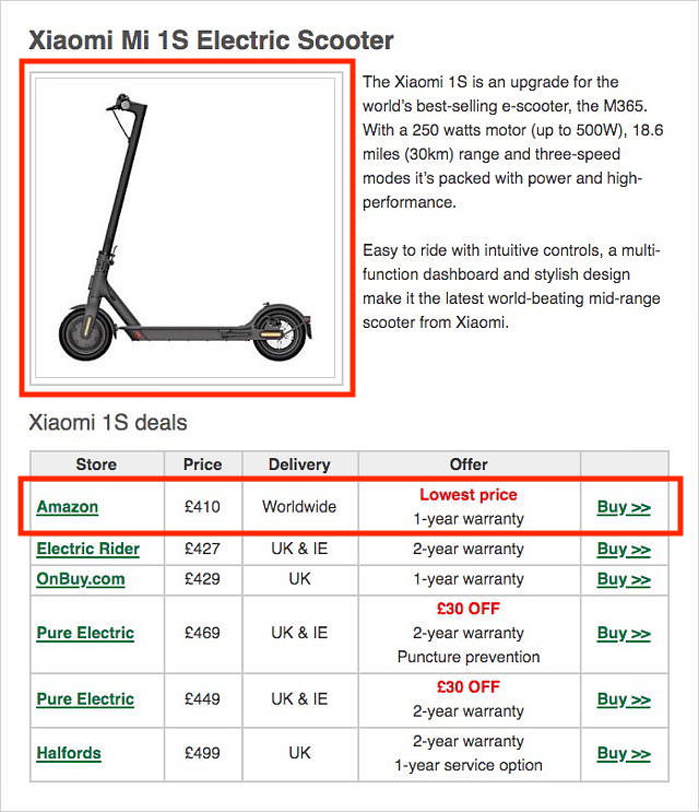 Choose & Buy Your e-Scooter