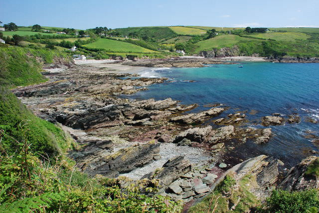 Picture perfect Talland Bay in Cornwall