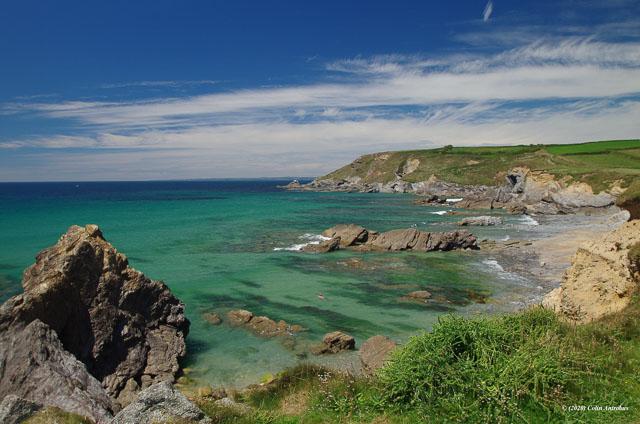 Scenic Dollar Cove on the Lizard Peninsula, Cornwall