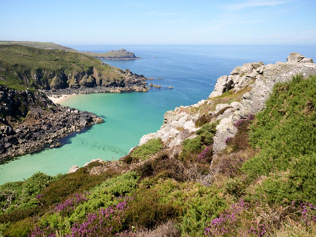 Scenic view looking west from Zennor Head